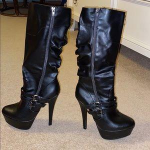 High heel stiletto boots